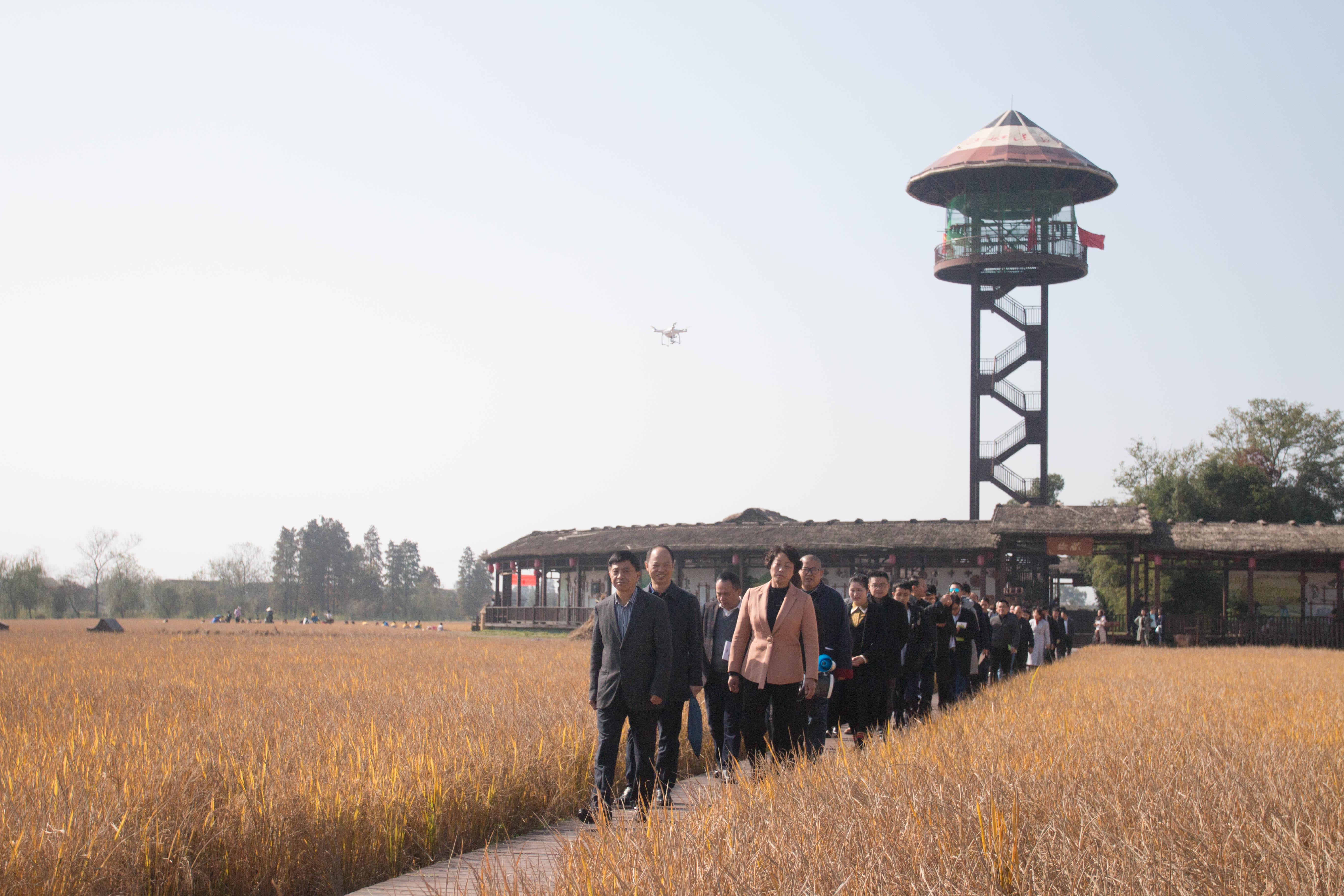 2018年11月,省市统战部组织新阶层人士体验新农村建设。