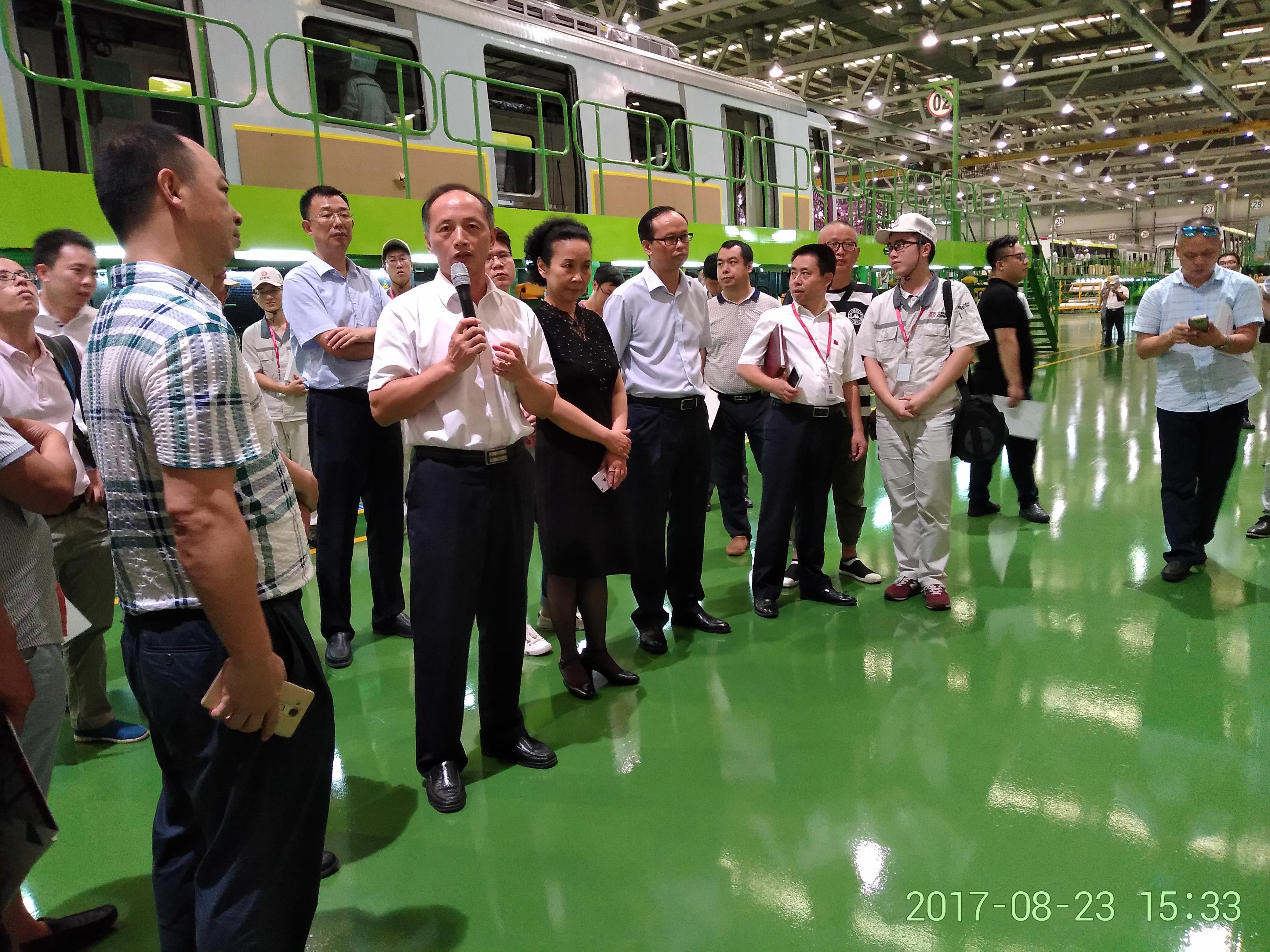 2017年8月,省委统战部组织新阶层人士参观访问株洲制造。